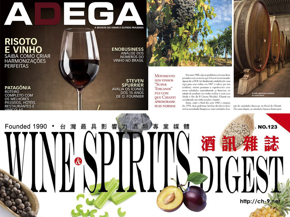 International Wine Magazines and our Wines